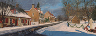 Phillip Philbeck Limited Edition Giclee on Canvas Main Street in Old Salem