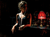 Fabian Perez Limited Edition Giclee on Canvas Marina by the Red Light