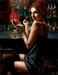 Fabian Perez Limited Edition Giclee on Canvas Marissa at the Bar