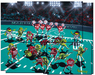 Godard Martini Art Limited Edition Giclee on Canvas Martini Bowl Mosaic Mural