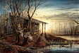 Terry Redlin Limited Edition Giclee on Canvas Morning Retreat
