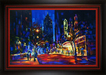 City Impressionism Originals and Prints Limited Edition Giclee on Canvas Night at the Fox