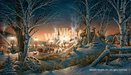 Terry Redlin Limited Edition Giclee on Canvas Night on the Town