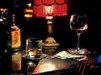 Fabian Perez Limited Edition Giclee on Canvas Noches de Malavida con Whiskey and Wine