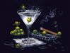 Godard Martini Art Limited Edition Giclee on Canvas Olive Party II - It's On! (28 x 37.5)