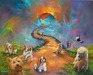 Jim Warren Fine Art Limited Edition Giclee on Canvas All Dogs Go to Heaven #4 - Dogs Allowed