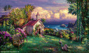 Cao Yong Limited Edition Giclee on Canvas Paradise