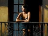 Fabian Perez Limited Edition Giclee on Canvas Saba at the Balcony VI
