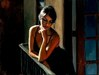 Fabian Perez Limited Edition Giclee on Canvas Saba at the Balcony