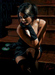 Fabian Perez Limited Edition Giclee on Canvas Saba on the Stairs