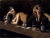 Fabian Perez Limited Edition Giclee on Canvas Self Portrait with Monica