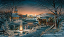 Terry Redlin Limited Edition Print Sharing the Evening AP