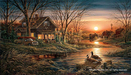 Terry Redlin Limited Edition Print on Paper Shoreline Neighbors