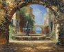 James Coleman Limited Edition Giclee on Canvas Courtyard Fountain