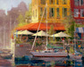 James Coleman Limited Edition Giclee on Canvas Dockside Cafe