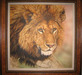 Jacquie Vaux None Stalking Lion Original Watercolor