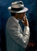 Fabian Perez Limited Edition Giclee on Canvas Smoking Under the Light White Suit