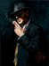 Fabian Perez Limited Edition Giclee on Canvas Smoking Under the Light IV