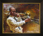 Andrew Art Limited Edition Giclee on Canvas Solid Brass