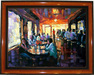 Michael Flohr Artist Limited Edition Giclee on Canvas Sunset Grill