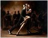 perez tango Limited Edition Giclee on Canvas Tango Con Zapatos Blancos