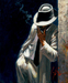Fabian Perez Limited Edition Giclee on Canvas The White Suit