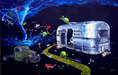 Godard Martini Art Limited Edition Giclee on Canvas Twisted Martini (24 x 40.5)